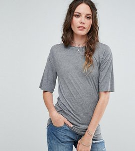 Read more about Glamorous tall relaxed t-shirt with cut out collar - grey marl