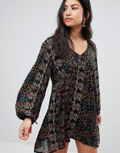 Read more about Raga yasmin printed long sleeved dress - black