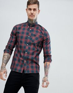 Read more about Fred perry reissues tartan shirt in green - green