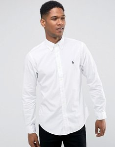 Read more about Polo ralph lauren cotton twill shirt slim fit buttondown polo player in white - white