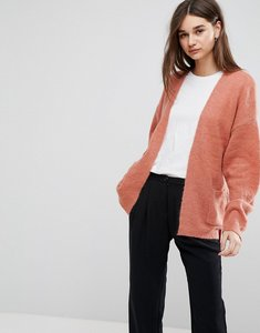 Read more about Gestuz oba short belted mohair wool blend cardigan - canyon rose