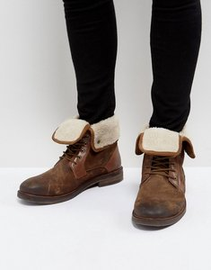 Read more about Steve madden turntup suede warm boots in tan - tan