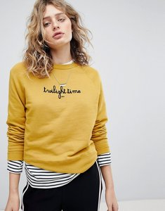 Read more about Maison scotch crew neck relaxed fit sweatshirt - sahara