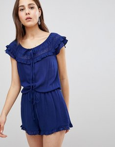 Read more about Brave soul candy playsuit with frill off shoulder - navy