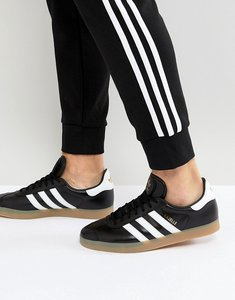 Read more about Adidas originals gazelle leather trainers in black bz0026 - black