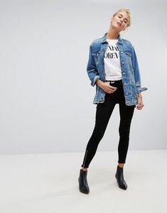 Read more about Bershka utility pocket detail skinny jean - black