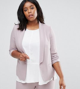 Read more about Asos curve blazer in crepe with slim lapel - mink