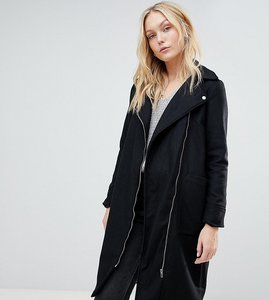 Read more about Brave soul tall hindon biker coat - black