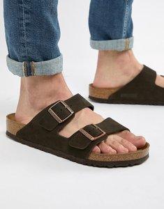 Read more about Birkenstock arizona sandals in mocha suede - brown