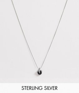 Read more about Reclaimed vintage inspired sterling silver necklace with claw detail in silver exclusive to asos