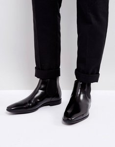 Read more about Kg kurt geiger waldock leather chelsea boots - black