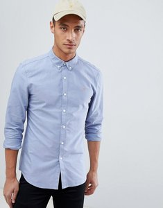 Read more about Farah brewer slim fit oxford shirt in blue - blue