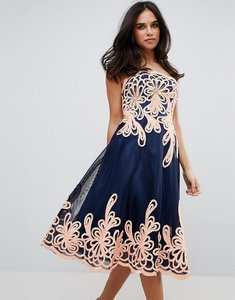 Read more about Forever unique strapless midi dress with baroque - black