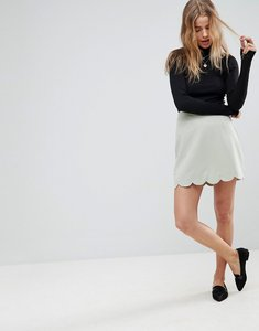 Read more about Asos tailored a-line mini skirt with scallop hem - mint