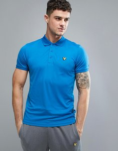 Read more about Lyle scott fitness pascoe polo shirt with mesh panels in blue - deep cobalt z46