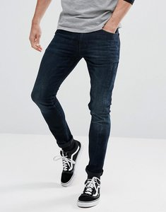 Read more about Asos super skinny jeans in blue black wash - dark wash blue