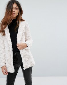 Read more about Vero moda faux fur jacket - oatmeal
