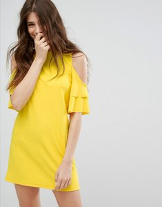 Read more about Bershka cold shoulder dress - yellow