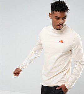 Read more about Ellesse muscle fit long sleeve t-shirt with sleeve print in stone - stone
