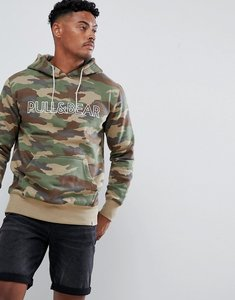 Read more about Pull bear hoodie in camo with logo - camo