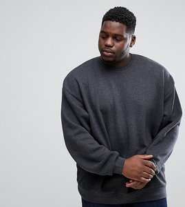 Read more about Asos plus oversized sweatshirt in charcoal marl - charcoal marl