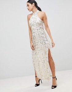 Read more about Ax paris lace maxi dress - champagne