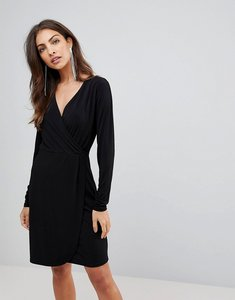 Read more about French connection eso slinky wrap dress - black