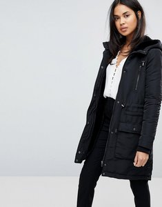 Read more about Y a s parka coat - black