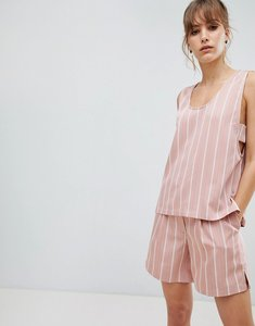 Read more about Selected femme stripe sleeveless top co-ord - pink