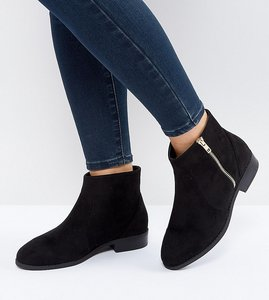 Read more about Asos accused wide fit ankle boots - black