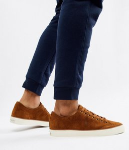 Read more about Polo ralph lauren sherwin suede trainers tonal logo in tan