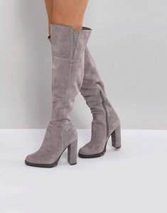 Read more about Aldo cayoosh suede over the knee boots - grey