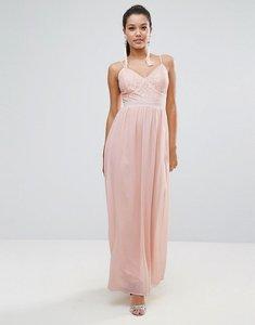 Read more about Club l corset lace detail maxi dress - pink