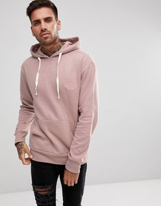 Read more about Friend or faux japangle embroidered logo hoodie - pink