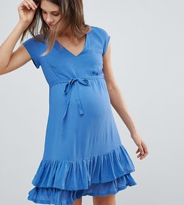 Read more about Mamalicious ruffle hem dress - delft