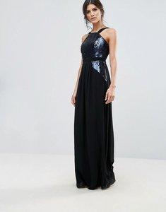 Read more about Little mistress sequin maxi dress - black