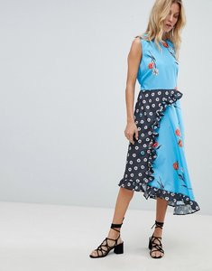 Read more about Asos design sleeveless midi dress in mix and match floral print - multi