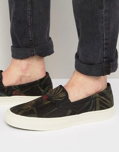 Read more about Paul smith clyde cockatoo print slip on plimsolls - green