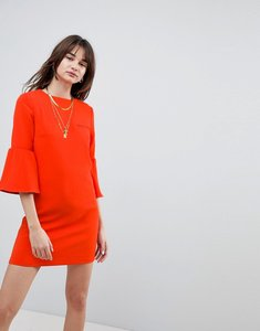 Read more about Cubic diana trumpet sleeve shift dress - red