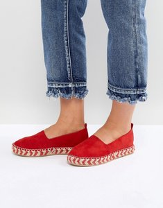 Read more about Glamorous flatform espadrille in red - red