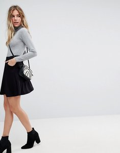 Read more about Asos mini skater skirt with pockets - black