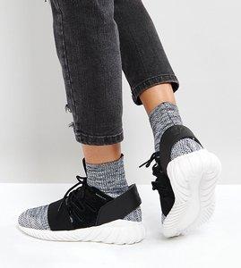 Read more about Adidas originals tubular doom primeknit trainers in black - black