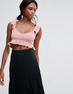 Read more about Missguided frill hem bralet - rose pink