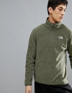 Read more about The north face 100 glacier 1 4 zip fleece in green - grape leaf