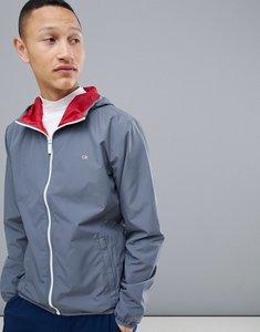 Read more about Calvin klein golf hooded windbreaker jacket in grey c9310 - grey