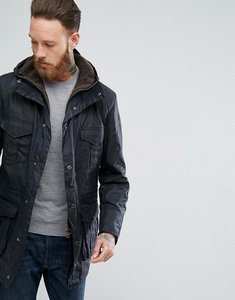 Read more about Barbour oakum wax jacket in navy - navy