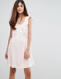 Read more about French connection nia drape capped sleeve mini dress - pink opal