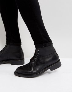 Read more about H by hudson fernie leather lace up brogue boots - black
