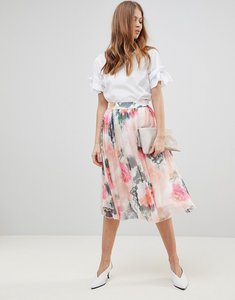 Read more about Y a s printed full skirt co-ord - multi