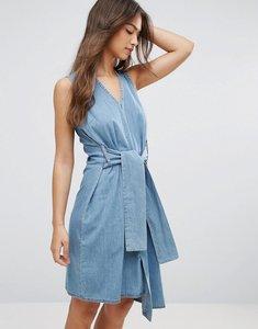 Read more about Cheap monday rizzle asymmetric dress - fans blue